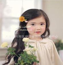 独家 604韩国儿童发饰头饰发夹发卡批发 女童玫瑰平夹子1个