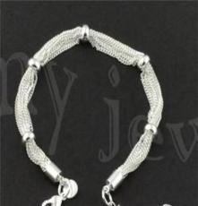 北京首飾批發,飾品代發 時尚銀飾,925銀手鏈SL0044