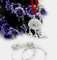 足銀銀鎖 純銀鎖 嬰兒 寶寶 銀飾 聰明伶俐 中國龍銀鎖 純銀手鐲