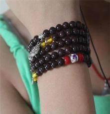 酒紅石榴石 純天然水晶手飾手鏈手串 108顆佛珠 韓版時尚民族女款