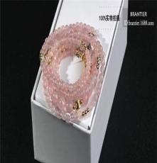 S925純銀馬達加斯加粉水晶 芙蓉晶手串 純天然極品粉晶手鏈批發