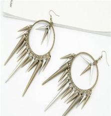 歐美時尚潮流復古柳丁 金屬朋克風 滴穗復古耳環 飾品批發