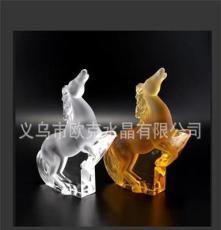 (廠家直銷)2014款高檔馬年禮水晶馬紀念品