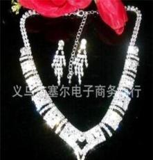 2011新款水钻新娘项链 水钻项饰结婚首饰套装 饰品套装 XL322