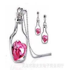 高檔爆款飾品 永恒愛情許愿瓶吊墜項鏈 韓版時尚熱賣項飾