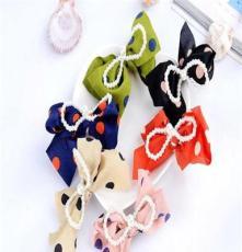库存低价版发饰 发卡 优雅珍珠发夹 蝴蝶结 头饰 颜色可选批发