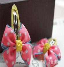 韓國兒童發飾飾品批發工廠直銷寶寶發飾發卡 進口鉤邊織帶BB夾