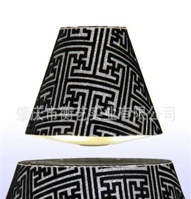 黑色方格中式现代台灯 节能led个性灯具 磁悬浮室内灯具批发