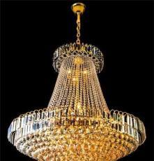 厂家直销 奢华 金色水晶灯 餐厅水晶吊灯 北欧风格 酒店大堂灯