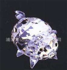 华达厂家定做水晶礼品 水晶动物摆饰 水晶猪 各种动物雕刻