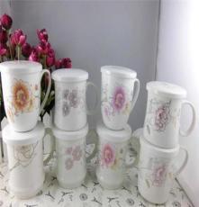 創意家居 韓版杯子 帶蓋馬克杯 可愛情侶杯 骨瓷水杯