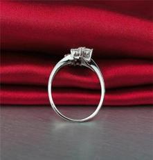 TYF 一件起批 时尚可爱双花群镶经典女戒 925纯银戒指 银指环手饰