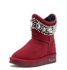 厂家直销冬靴真皮新款雪地靴批发牛皮时尚短靴爆款保暖女靴代发