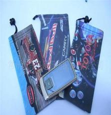 供应双面绒手机袋 转移印刷 可自选图案