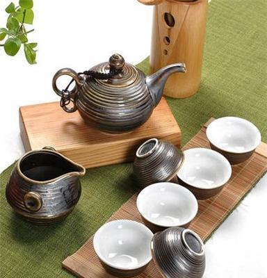 供应 铁锈釉套装功夫茶具 日式窑变复古礼品茶具茶具套装礼品