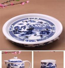 景德鎮大茶盤茶具 雙層陶瓷杯 功夫茶具 隔熱茶具 中秋禮品 特價