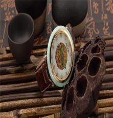 艾翠手表机械表,全自动白玉翡翠防水情侣手表一对腕表
