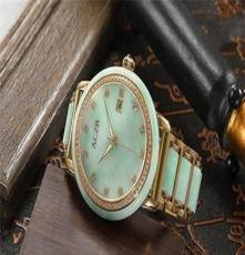艾翠 翡翠手表 玉石手表 璀璨钻石 全自动机械机男腕表 镀金奢华