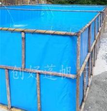广西水产养殖水池 工厂化管理养殖 定做大型养殖帆布水池