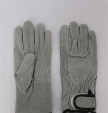厂家直销牛皮二层皮手套 全掌建筑作业手套 焊工用电焊手套
