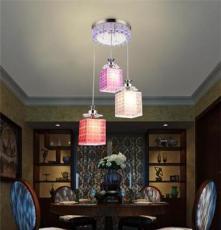 凡人8834-3 现代简约创意灯具 LED水晶餐吊灯 亚克力灯罩吸顶吊灯