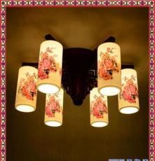 酒店大堂復式樓梯旋轉燈 景德鎮陶瓷吊燈古典藝術現代陶瓷燈