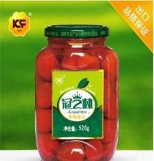 冠之林草莓罐头食品 520g糖水即食新鲜水果罐头 批发