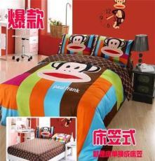 品质版 带字母几何猴四件套 纯棉活性印花斜纹 床上用品 一件代发