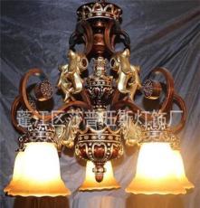 熱賣燈飾歐式仿古樹脂鐵藝中高檔大吊燈 花瓣外形裝飾吊燈