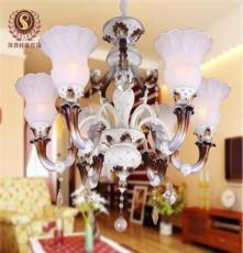 莎普旺斯供應鐵藝樹脂客廳吊燈 歐式仿古高檔酒店吊燈