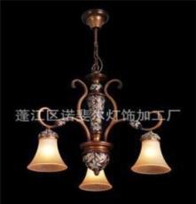 廠家批發鐵藝燈酒吧燈具歐式仿古樹脂燈、非標工程燈中高檔吊燈