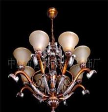 廠家批發 中山熱賣燈飾歐式仿古布罩樹脂鐵大餐吊燈