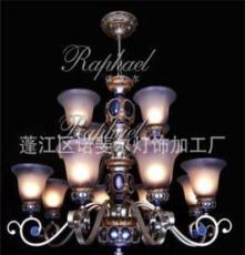 莎普旺斯供應歐式仿古吊燈 簡易家具燈飾 高檔鐵藝樹脂吊燈