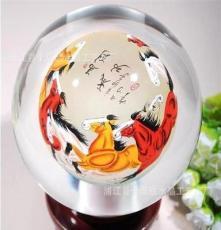 (厂家直销)水晶球 内画水晶球 水晶球定做 水晶工艺品