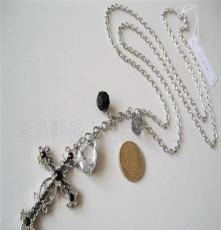 韩盛工艺品加工定做各种精美项链项饰 韩版外贸饰品 十字架形状