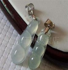 缅甸玉石 宝石 冰种四季豆 带国家证书质量保证