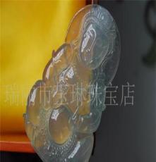 A货翡翠 挂件 玉石 玻璃种观音 带国家鉴定证书