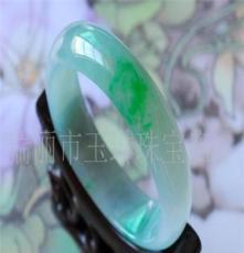 缅甸 A货翡翠 挂件 玉石 极品带色贵妃手镯(图)