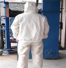 上海耐磨帆布喷砂防护服,加厚白色喷砂防护服,除锈帆布喷砂服