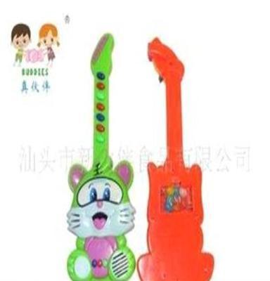 (工廠直銷)0512真伙伴盒裝電子音樂吉他老虎新玩具糖果