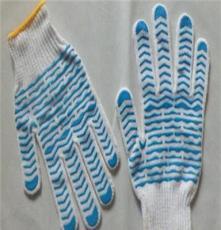 温州棉纱针织点塑手套图片