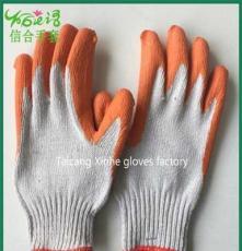 廠家直銷10針本白涂掌手套 防油防腐蝕防化耐酸堿手套超值