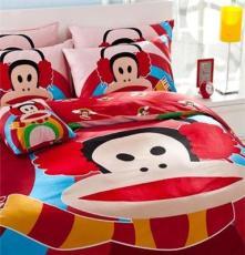 廠家純棉卡通猴子四件套家紡 床上用品全棉床笠床單四件套批發