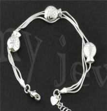 北京首飾批發,飾品代發 時尚銀飾,925銀手鏈SL0043