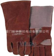 信誉商家 供应优质牛颈皮咖啡色斜拇指款防护手套