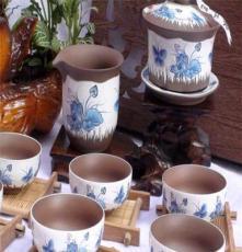 亚光釉茶具 茶海茶具套装茶具陶瓷 茶托 功夫茶具礼盒装 汝窑茶具