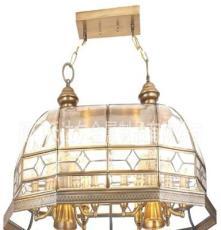 品牌:沃达尔 餐厅吊顶灯 全铜锡焊吊灯