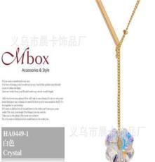 2012新款幸運草之謎女款時尚項鏈水晶項飾