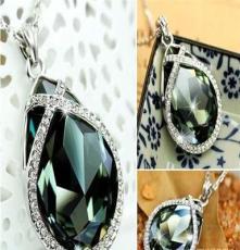 拥抱水晶项链 女款时尚欧美风复古夸张送礼首饰品 锁骨链批发