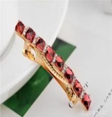 韩国珠宝发夹精美发夹 韩版多切面水晶镶钻发夹 义乌发饰批发厂家